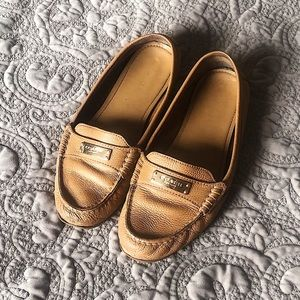 Coach Frederica Brown Leather Loafer Size 9
